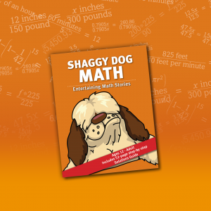 shaggy dog math book cover on background