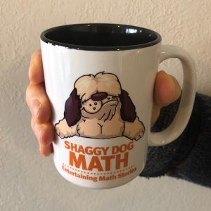 shaggy dog math coffee cup