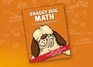 Shaggy Dog Math book cover on equation background