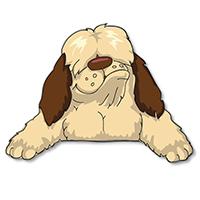 Shaggy Dog Math logo dog